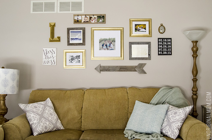 Above The Sofa Living Room Gallery Walls Great Ideas Including A Pallet Arrow