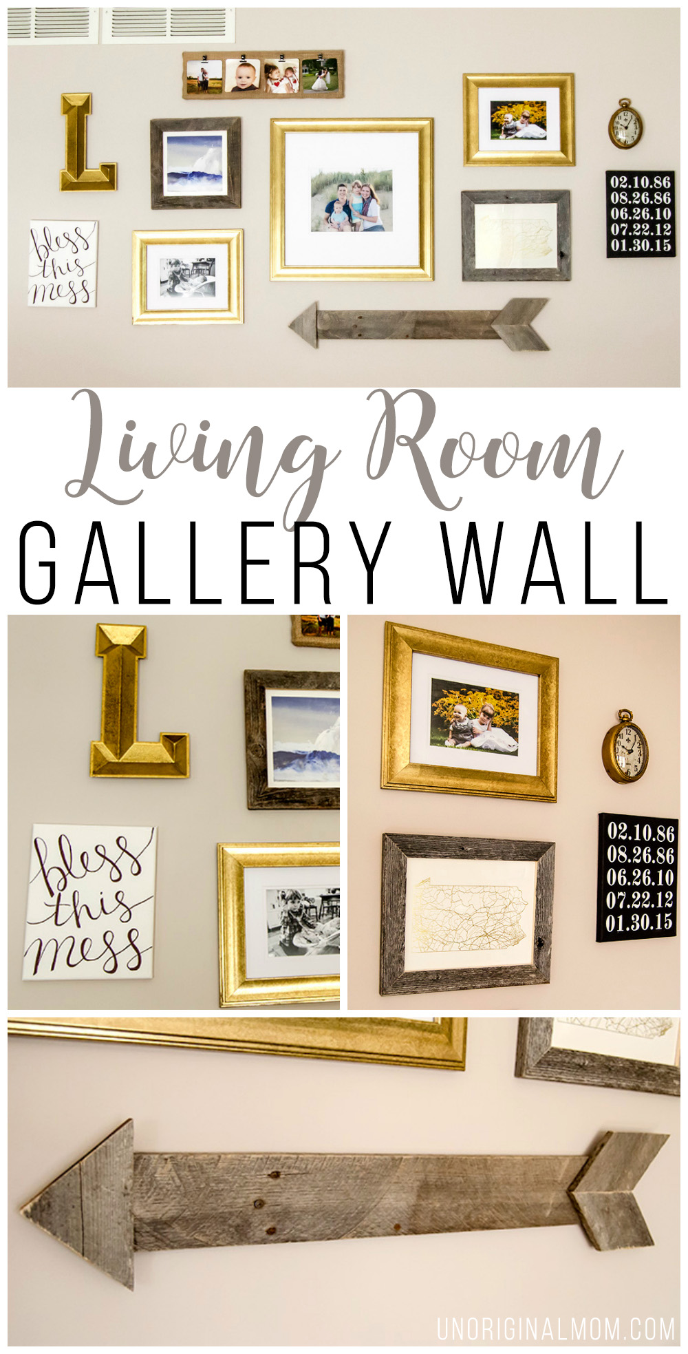 Our Living Room Gallery Wall - unOriginal Mom