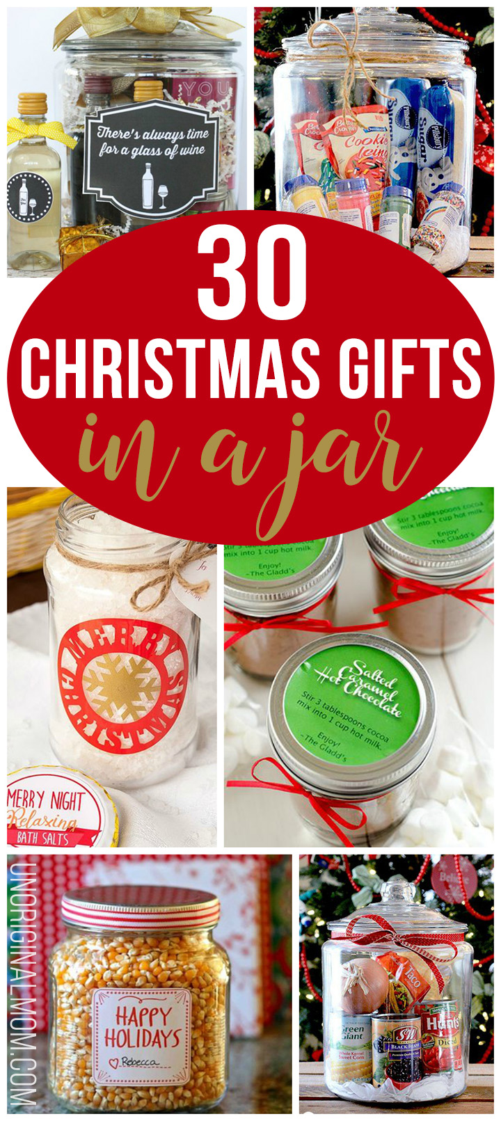 30 Christmas Gifts in a Jar - unOriginal Mom