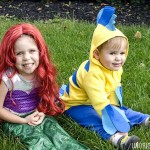 DIY Little Mermaid and Flounder Costumes