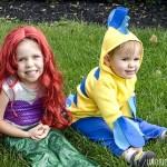 DIY Little Mermaid and Flounder Costumes