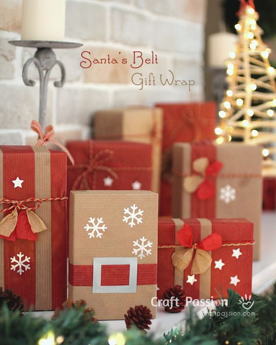 Love These Ideas For Dressing Up Brown Paper Packages At Christmas Save Money On Wring