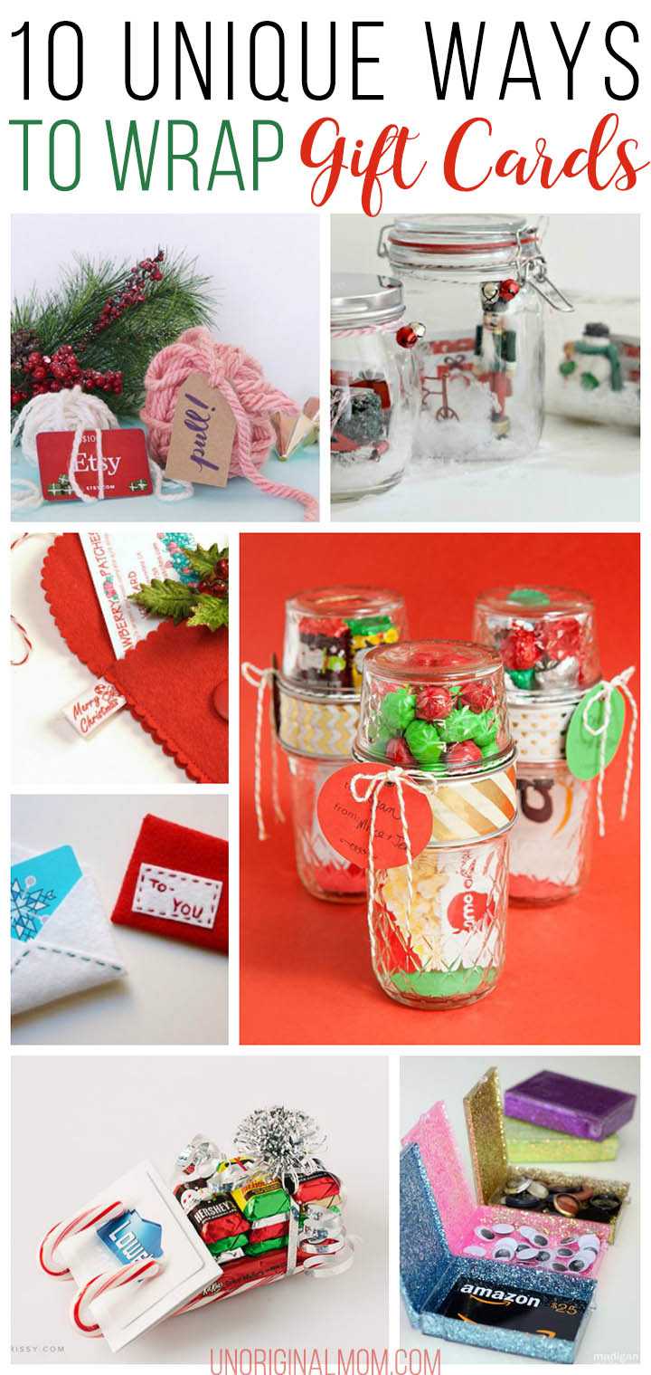 10 unique gift card wrapping ideas unoriginal mom for Unique ideas for christmas gifts