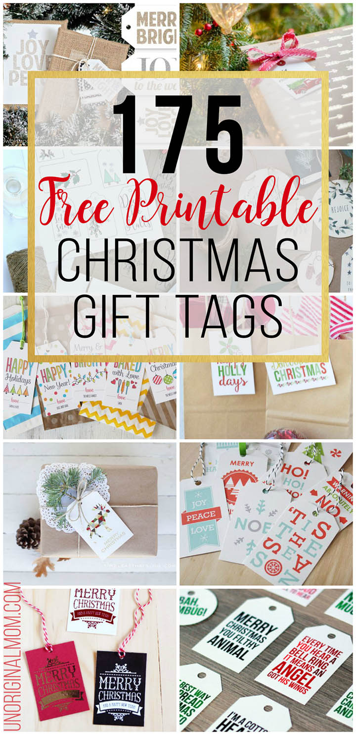 175 different FREE printable Christmas gift tags! So many beautiful tags to choose from. Dress up your Christmas gifts for free! #freeprintablegifttags #christmas #freegifttags #giftwrap #printabletags #myhandmadechristmas