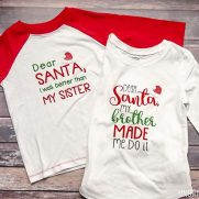 """Dear Santa"" Brother Sister Shirts"