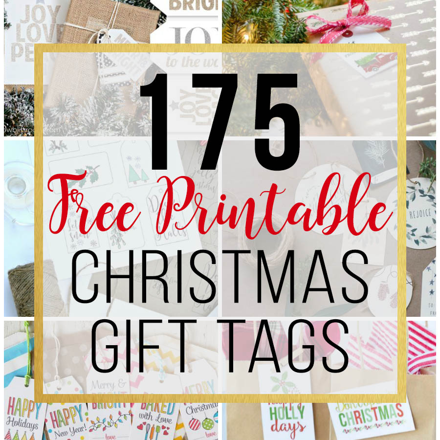 image regarding Free Printable Christmas Name Tags named 175 Totally free Printable Xmas Reward Tags - unOriginal Mother