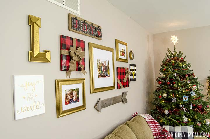 How To Decorate A Gallery Wall For Christmas Unoriginal Mom