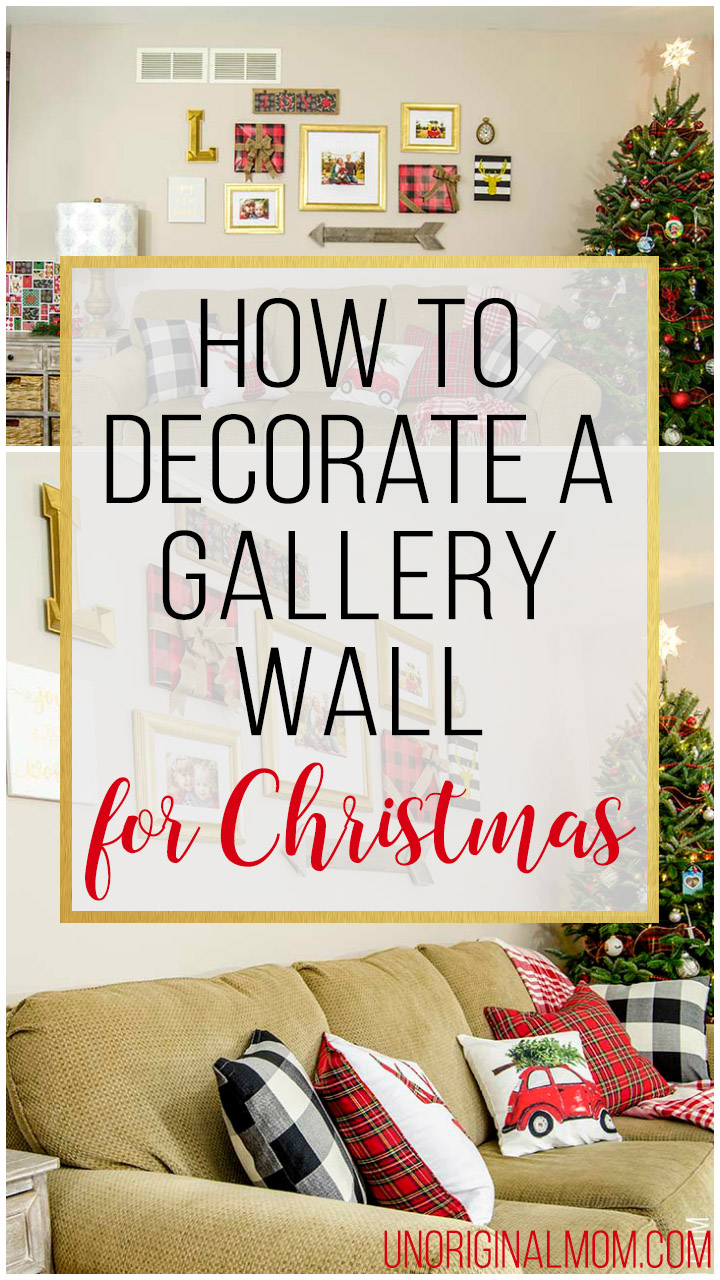 How To Decorate A Gallery Wall For Christmas Unoriginal Mom,Home Decorators Collection Discount Code
