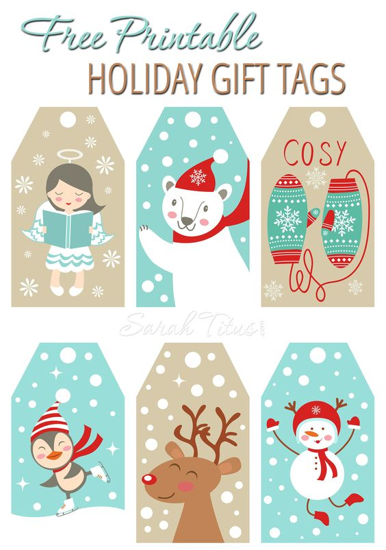 Christmas free printables gift tags