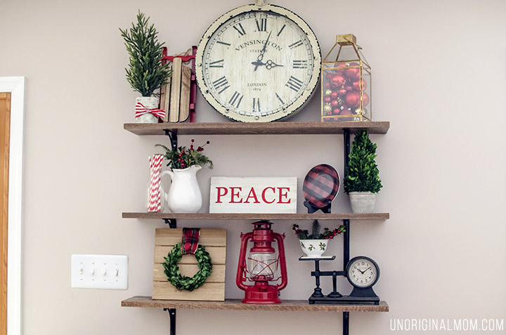 Christmas home tour unoriginal mom for Decor steals scale