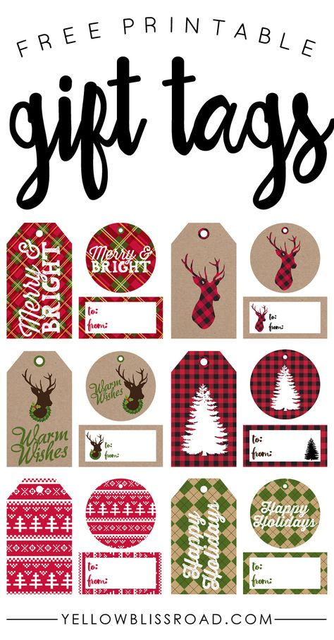 175 Free Printable Christmas Gift Tags - unOriginal Mom