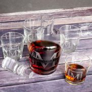 DIY Etched Monogrammed Whiskey Decanters