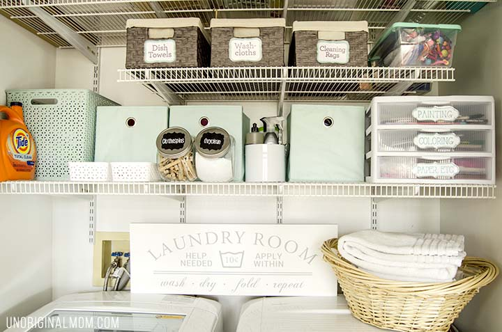 Organizing Ideas And Solutions For A Small Multi Purpose Laundry Closet Complete With