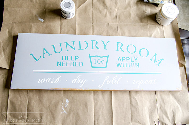 Painted Laundry Room Sign UnOriginal Mom - Laundry room signs