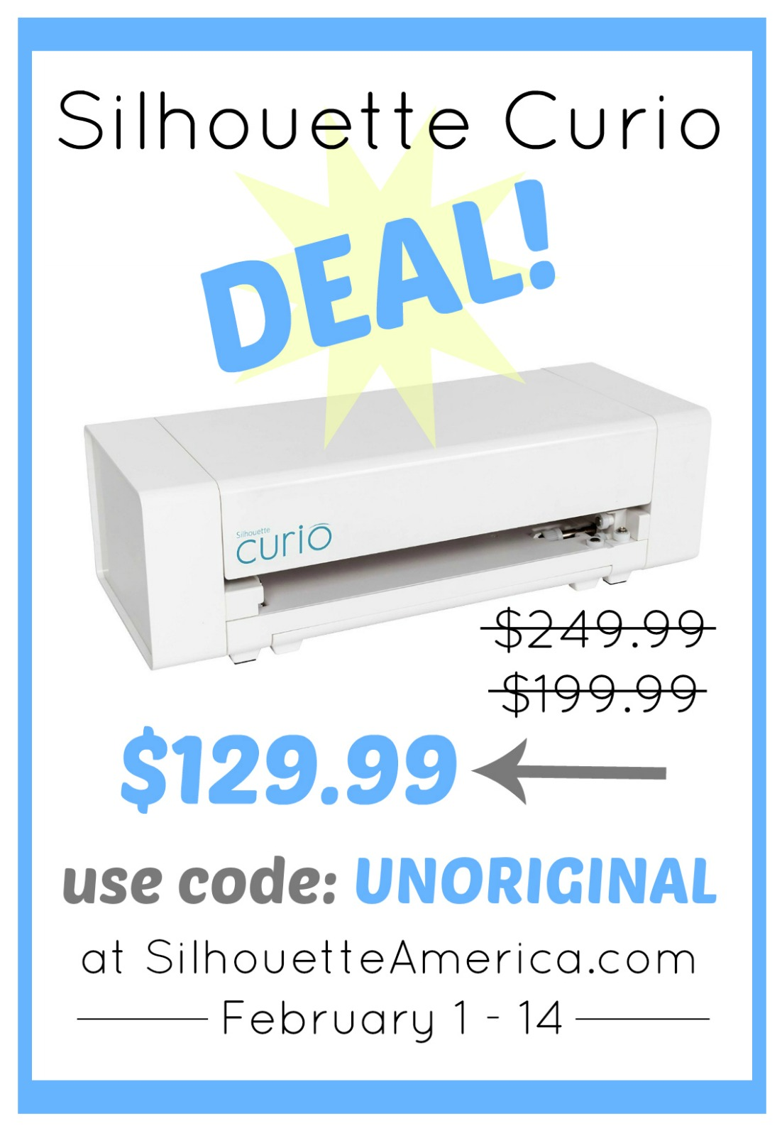 Amazing deal on the Silhouette Curio - grab it for almost 50% off when you use the code UNORIGINAL!