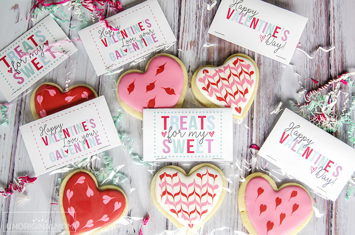 image about Valentine Labels Printable titled Cost-free Valentines Working day Handle Printables - unOriginal Mother