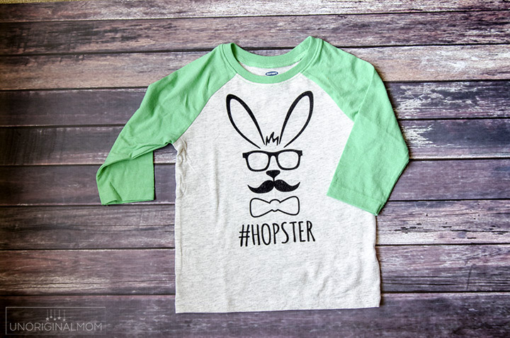 """Hopster"" Easter shirt with a free Silhouette Cut File - such an adorable boy's Easter shirt!"