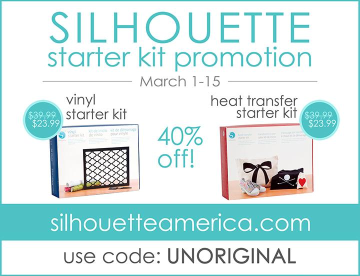 Silhouette vinyl starter kit | Silhouette heat transfer starter kit | Silhouette promotion