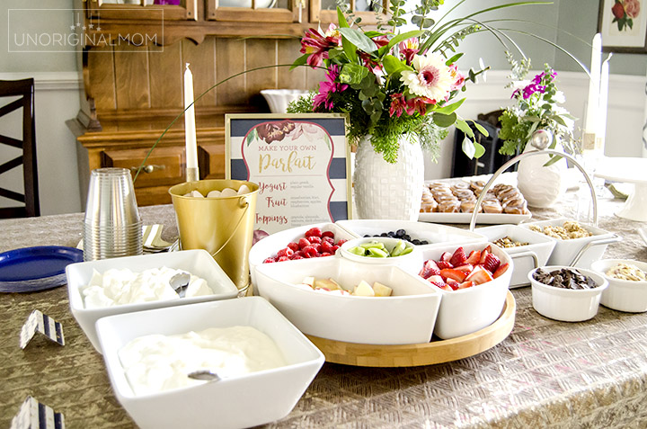bridal shower brunch yogurt parfait bar unoriginal mom