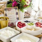 Bridal Shower Brunch Yogurt Parfait Bar
