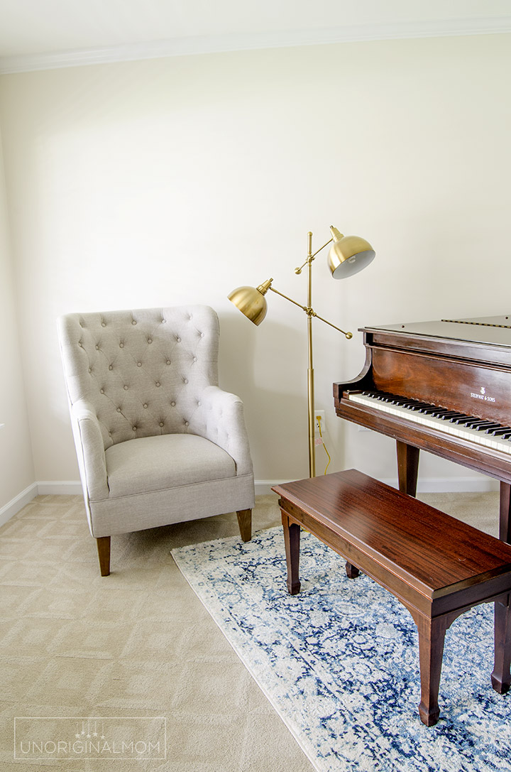 ORC music room makeover - Sherwin Williams Shoji White
