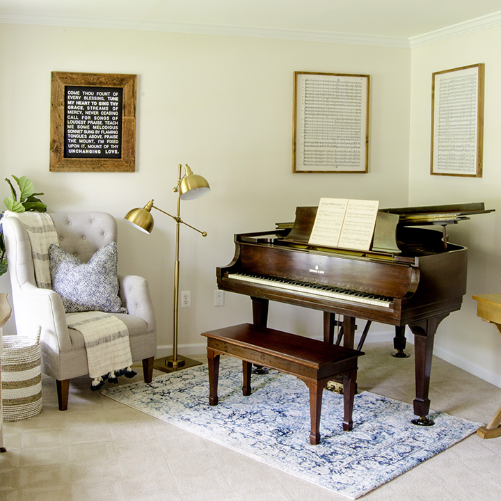 Orc 6 Industrial Farmhouse Office Music Room Reveal