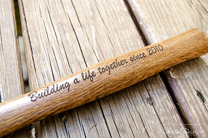 What a unique anniversary gift idea - a wood handled engraved hammer! Perfect for a 5th anniversary - wood! | Building a life together | 5th anniversary gift idea