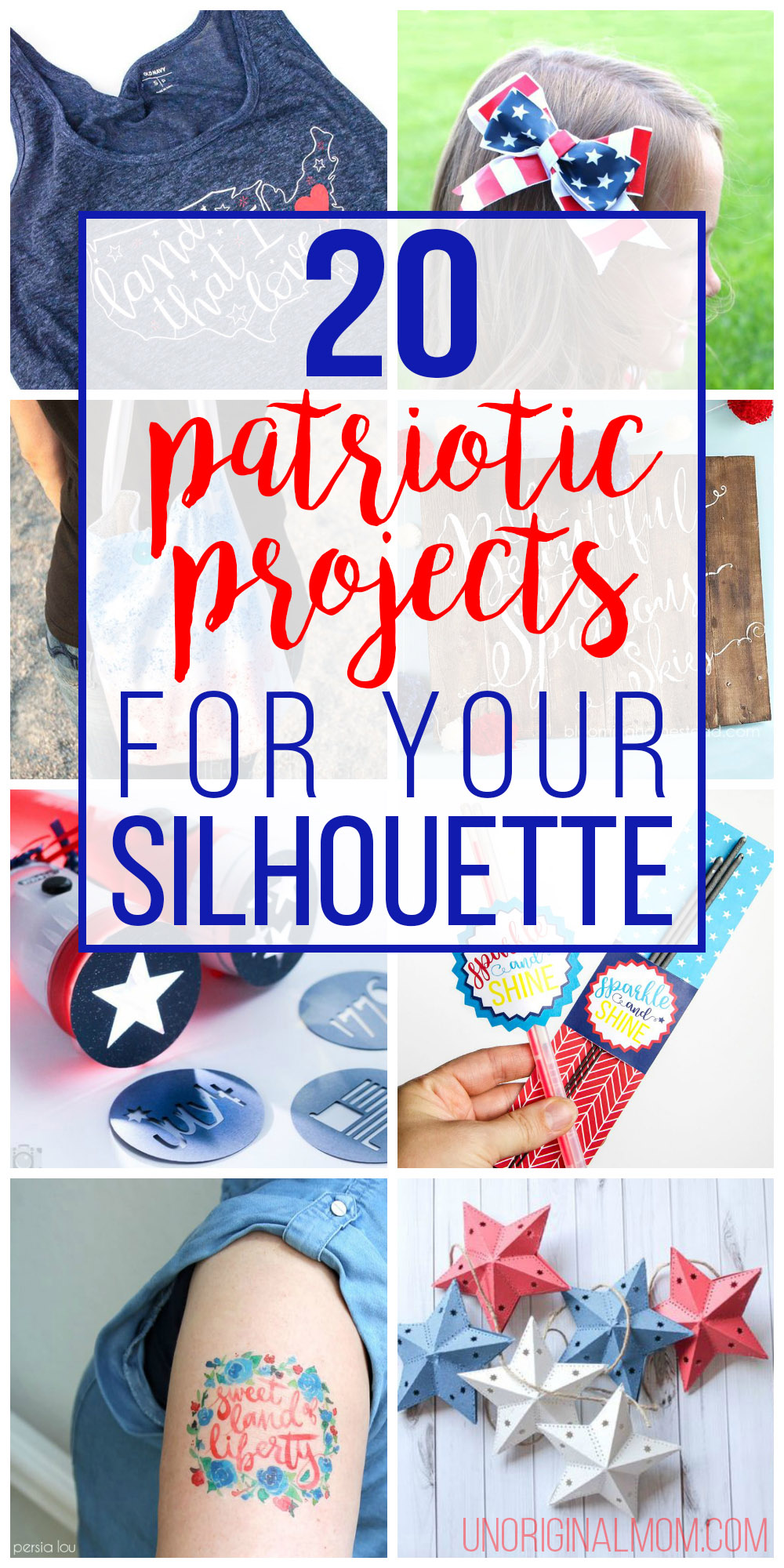 20 crafty patriotic projects to make with your Silhouette or Cricut! | patriotic crafts | 4th of July projects | silhouette cameo | cricut explore |
