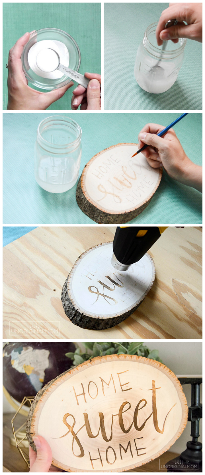 Wood burning with ammonium chloride - a really neat technique to brand wood without a brand or a wood burning tool! So many possibilities! | wood burning | wood branding | rustic crafts | wood burning crafts | wood burning tutorial