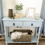 Coastal Blue Side Table Makeover