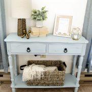 Coastal Blue Side Table Makeover