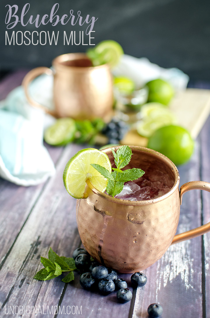 Blueberry Moscow Mule Cocktail Recipe Unoriginal Mom