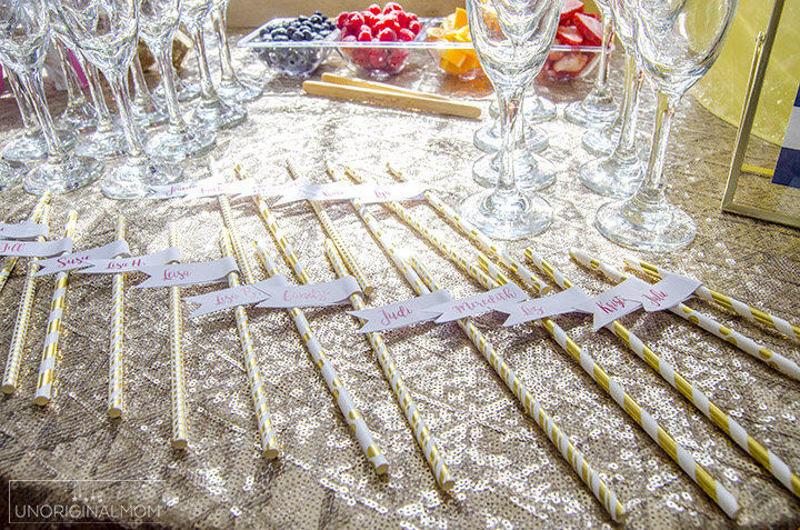 great tips for how to put together a mimosa bar for a bridal shower or other