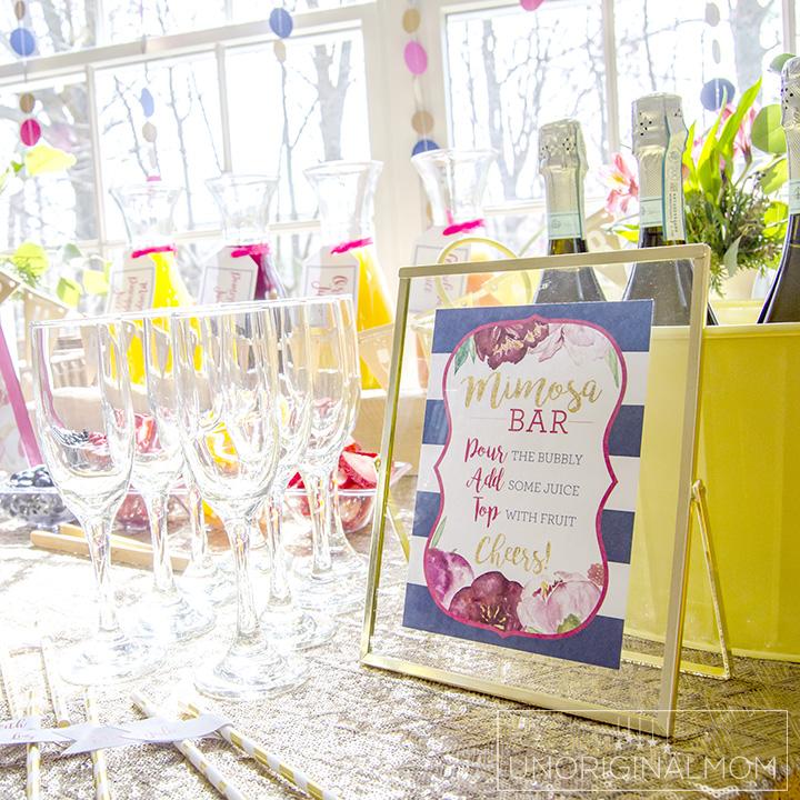 how to create a bridal shower mimosa bar unoriginal mom