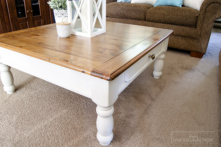farmhouse coffee table makeover unoriginal mom. Black Bedroom Furniture Sets. Home Design Ideas