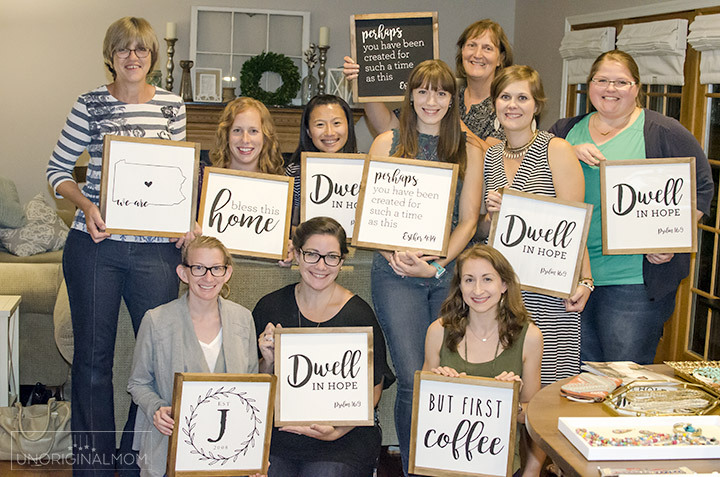 Farmhouse Style Sign Painting Party Unoriginal Mom