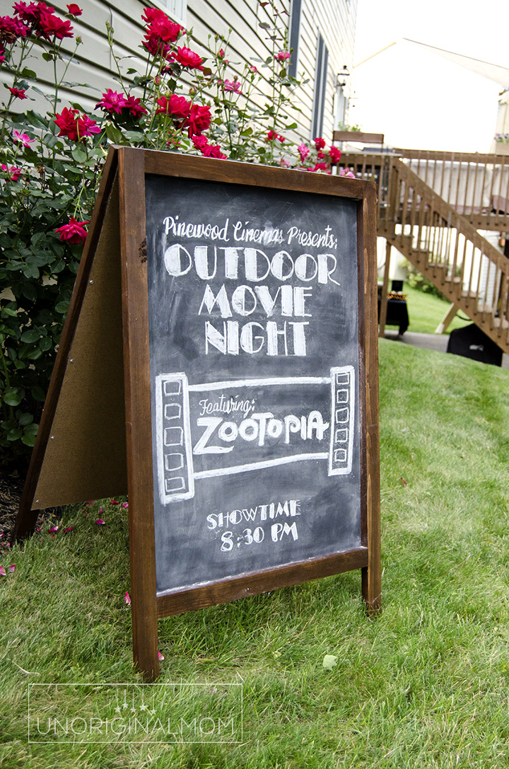 photograph about Popcorn Sign Printable known as Outside Online video Evening Popcorn Bar with Absolutely free Printables