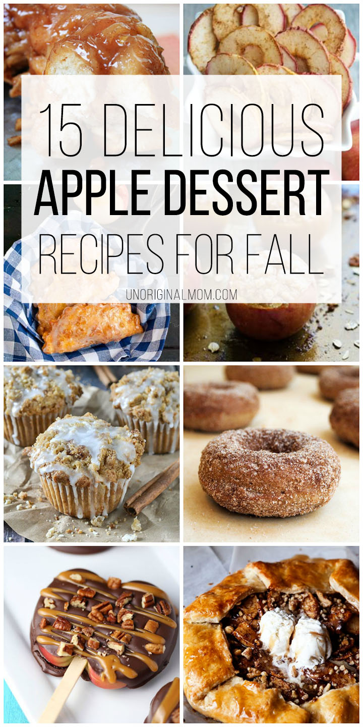 These apple dessert recipes look so yummy! I want to try them all! | #applerecipes #appledesserts #apples | apple dessert recipes | apple recipe ideas | easy apple desserts