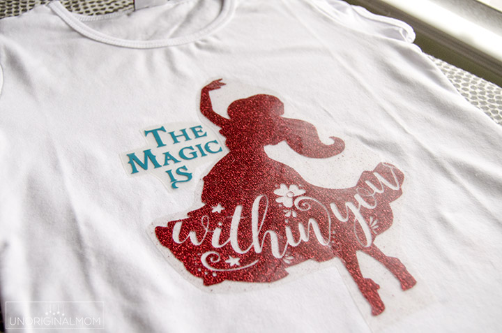 Elena of Avalor shirt with a free silhouette cut file | #elenaofavalor #freecutfile