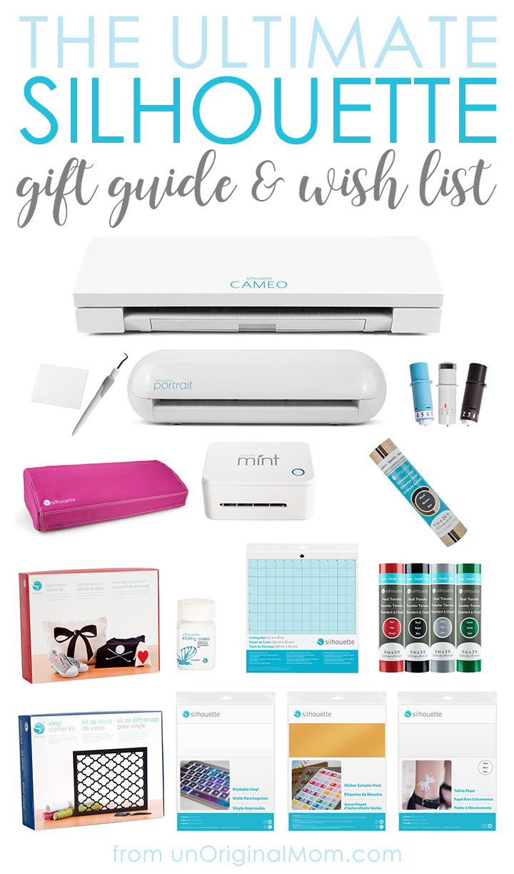 A terrific list with reviews of must have items for Silhouette crafters - a great Silhouette gift guide or wish list! #silhouettecameo #bestcraftingtoolever #silhouettegiftguide #silhouetteblackfriday #silhouetteportrait #silhouettewishlist