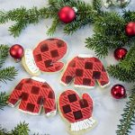 Stenciled Buffalo Plaid Cookies with your Silhouette