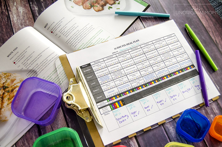 21 Day Fix Meal Plan Spreadsheet - closeup image. Make 21 Day Fix meal planning easy with this self-calculating Google spreadsheet! #21dayfix #mealplanning #21dayfixmealplanning #containercount #spreadsheet #freeprintable