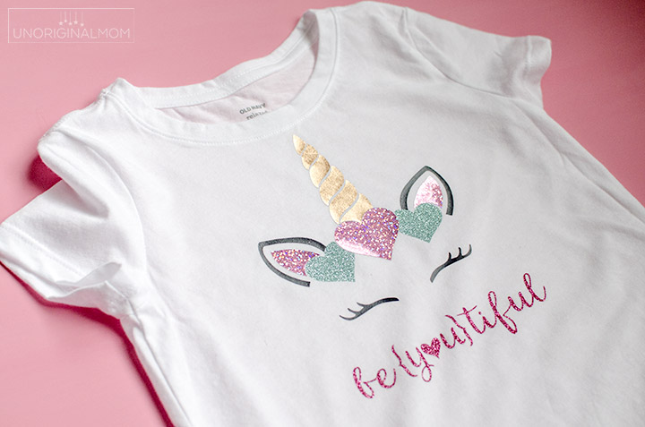 Unicorn Valentine's Shirt with Sparkle HTV - unOriginal Mom
