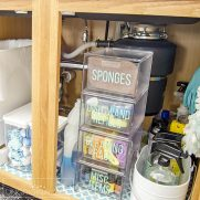 Under the Sink Organization: Before and After!