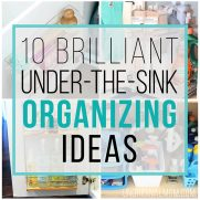 10 Brilliant Under the Sink Organization Ideas