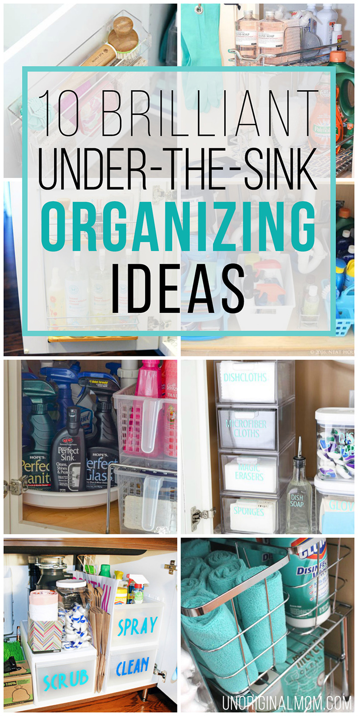 I Love All Of These Great Ideas For Under The Sink Organization!  #undersinkorganization #