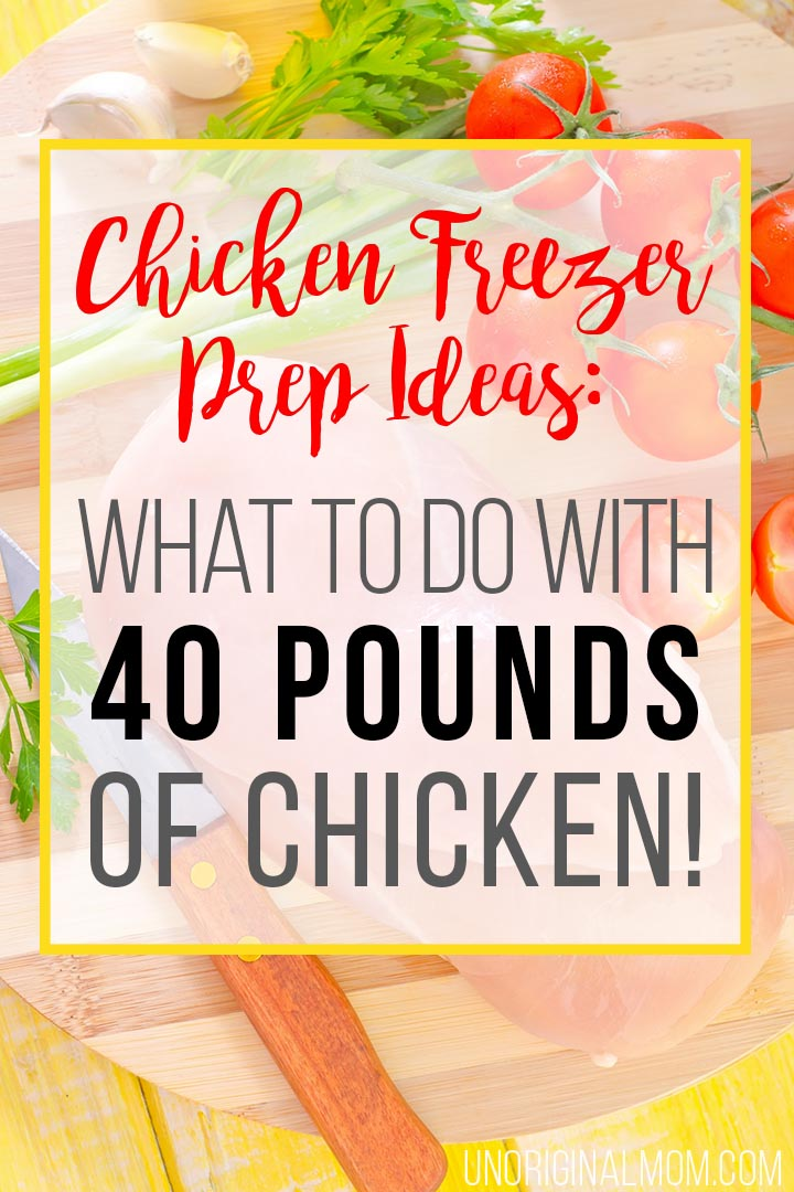 Chicken Freezer Prep Ideas: how I prepped 40 pounds of raw chicken breasts from Zaycon Fresh for quick and easy meal prep! #chicken #freezermealprep #zaycon #zayconfresh