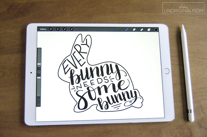Every Bunny Needs Some Bunny - Easter bunny SVG and printable - ipad image #freeSVG #silhouette #cricut #easterprintable #bunnyprintable