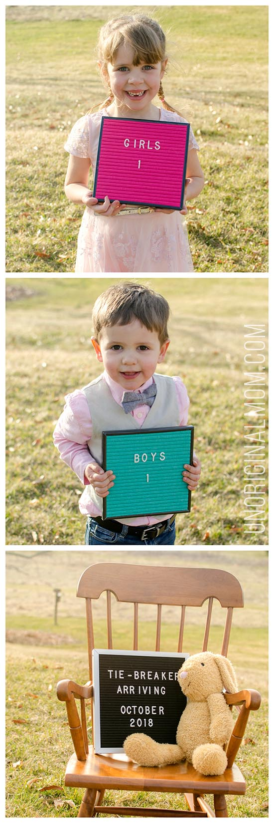 Baby #3 Pregnancy Announcement - 1 girl and 1 boy tiebreaker baby! #tiebreakerbaby #pregnancyannouncement #babyannouncement #thirdbaby