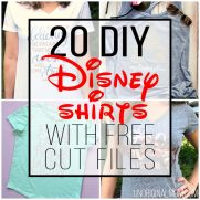 20 DIY Disney Shirts with Free Cut Files